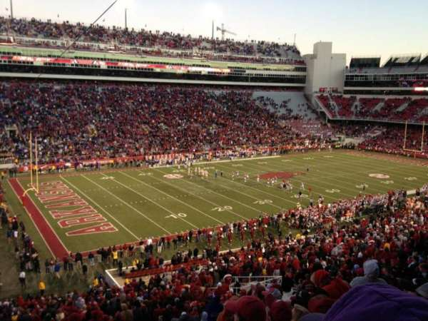 Razorback Stadium, section: 107, row: 52, seat: 36