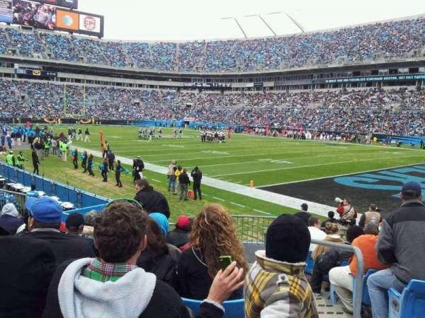 Bank of America Stadium, section: 126, row: 9, seat: 1