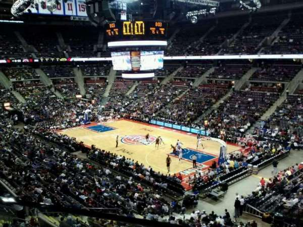 The Palace of Auburn Hills, section: 227, row: 1, seat: 5