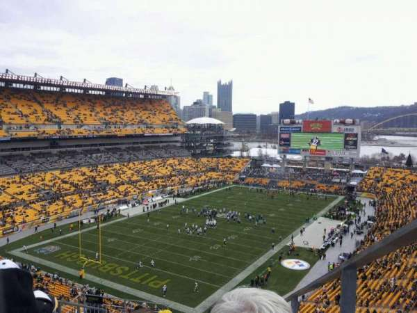 Heinz Field, section: 527, row: O, seat: 1