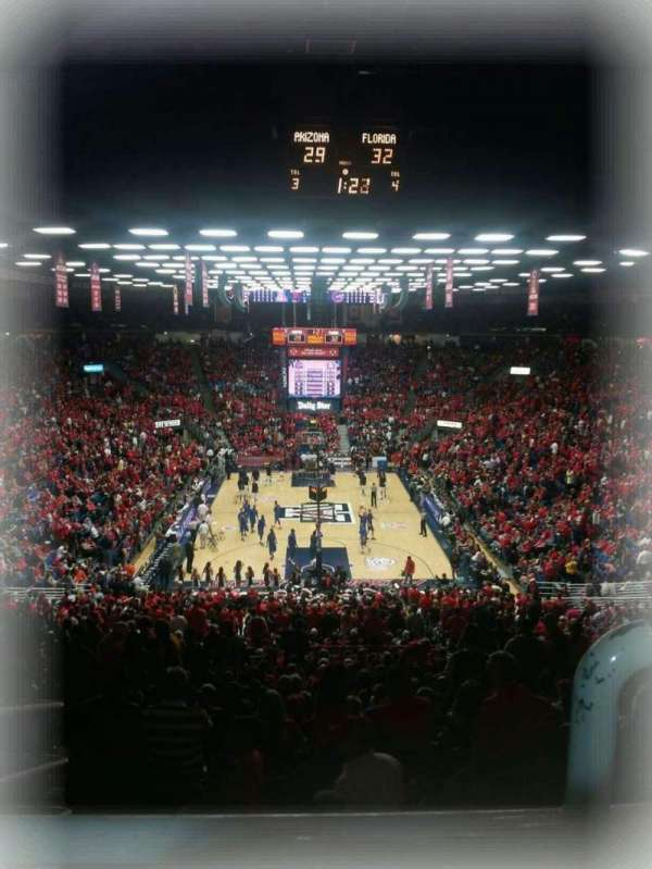 Mckale Center, section: UP 121, row: 33, seat: 16