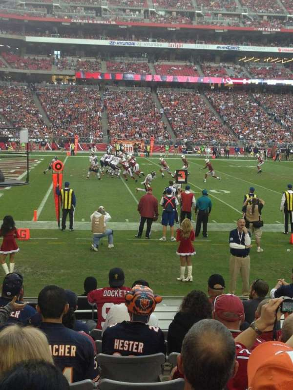 State Farm Stadium, section: 113, row: 9, seat: 6