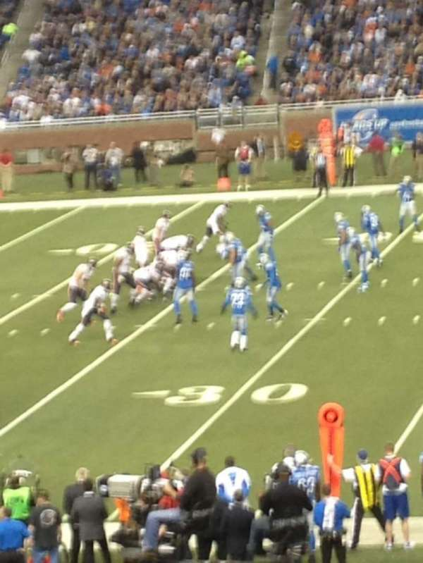 Ford Field, section: 106, row: 37, seat: 1