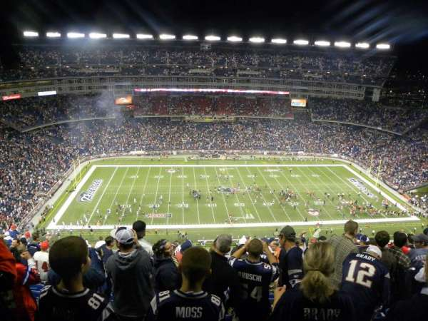 Gillette Stadium, section: 311, row: 21, seat: 7/8