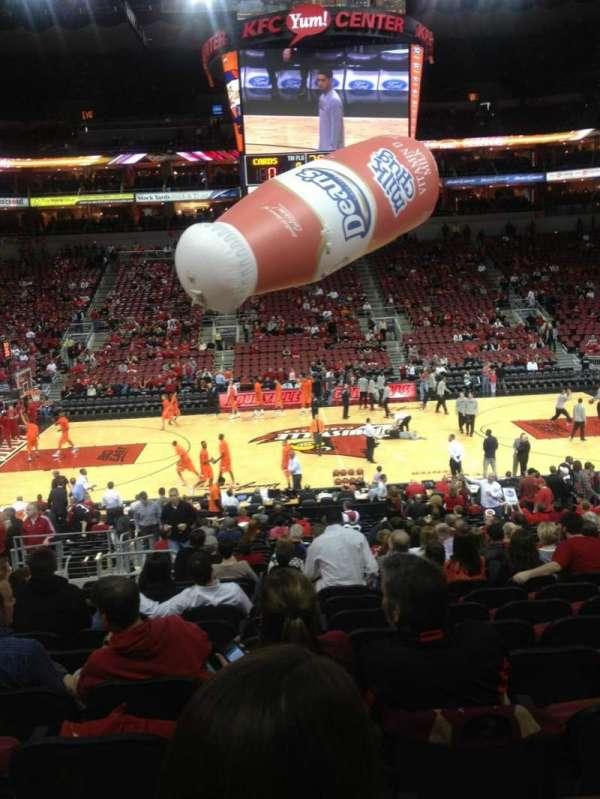 KFC Yum! Center, section: 116, row: AA, seat: 14