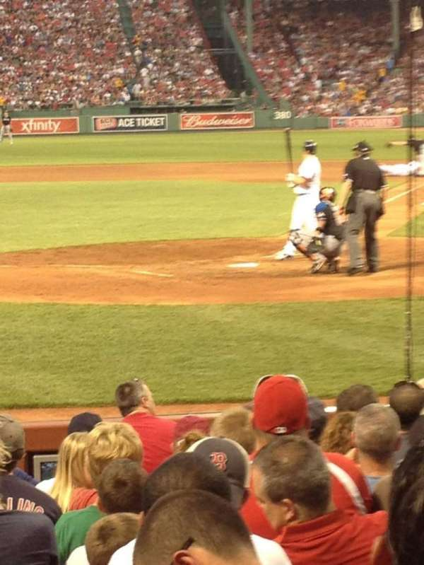 Fenway Park, section: Field Box 49, row: D, seat: 3