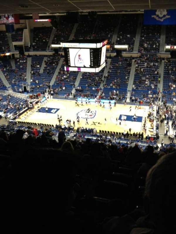 XL Center, section: 202, row: AA, seat: 3