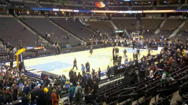 Pepsi Center, section: 106, row: 17, seat: 15