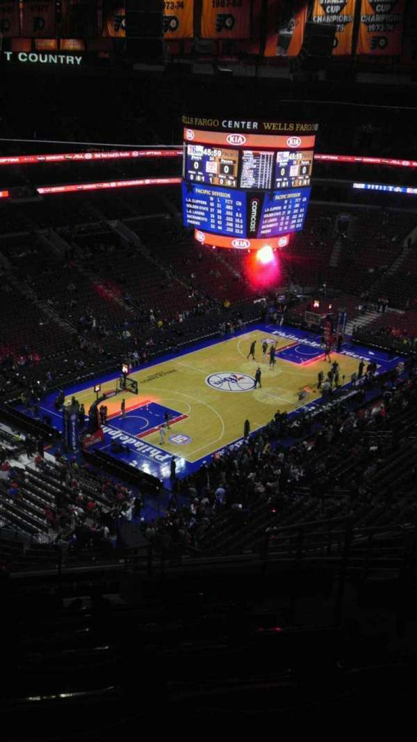 Wells Fargo Center, section: 221, row: 14, seat: 17