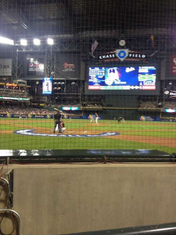 Chase Field, section: I, row: A, seat: 7