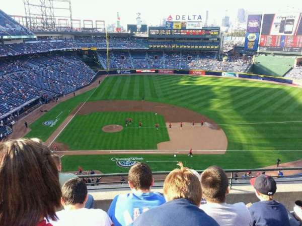 Turner Field, section: 411, row: 4, seat: 107