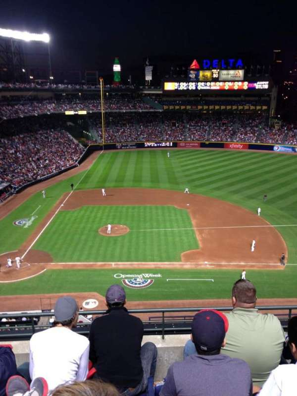 Turner field, section: 411, row: 4, seat: 108