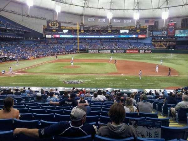 Tropicana Field, section: 116, row: GG, seat: 8