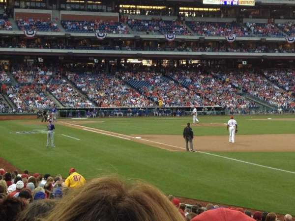 Citizens Bank Park, section: 111, row: 19, seat: 3