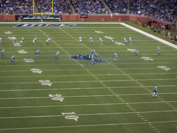 Ford Field, section: 342, row: 2, seat: 17