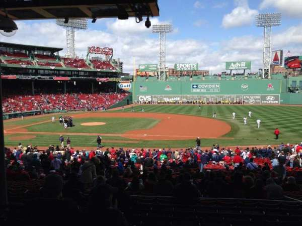 Fenway Park, section: Grandstand 14, row: 9, seat: 21