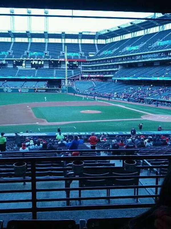 Progressive Field, section: 262, row: c, seat: 15