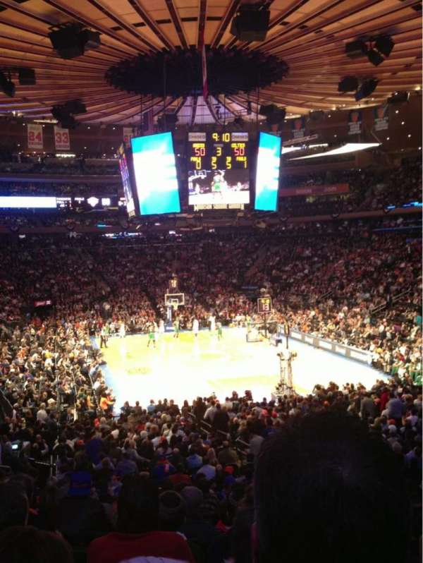 Madison Square Garden, section: 101, row: 19, seat: 14