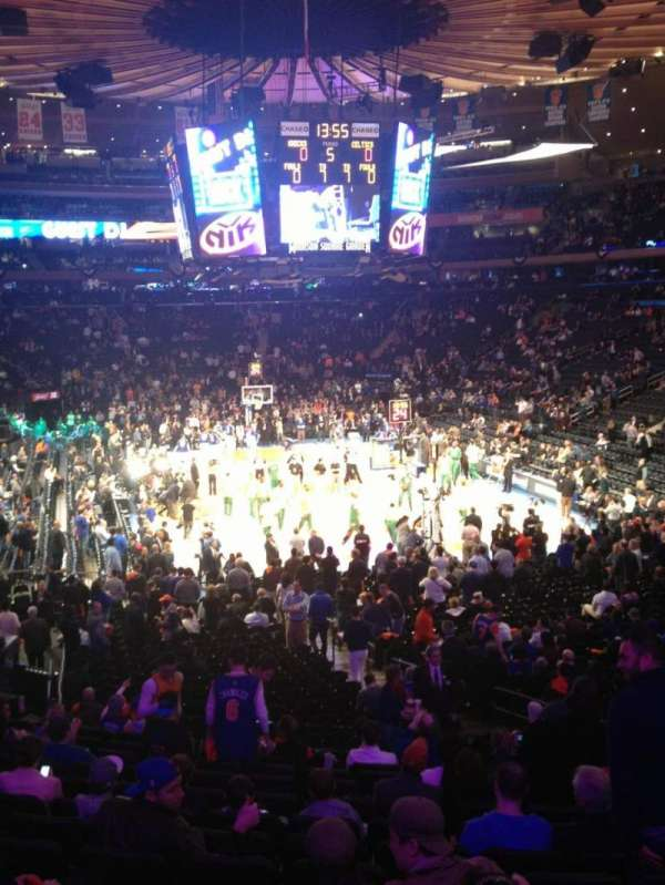 Madison Square Garden, section: 101, row: 19, seat: 15