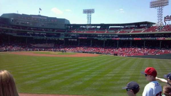 Fenway Park, section: Bleacher 37, row: 2