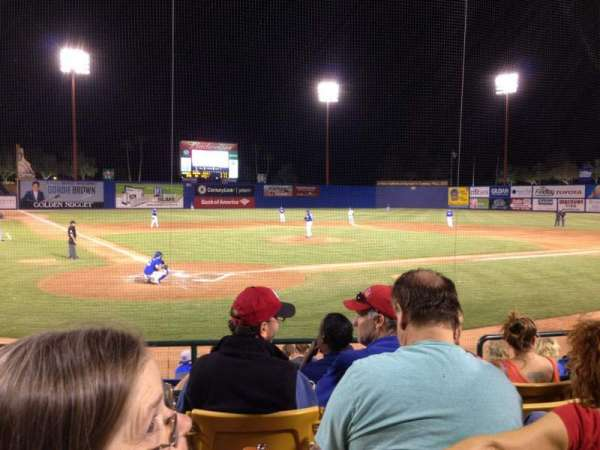 Cashman Field, section: 14, row: E, seat: 1