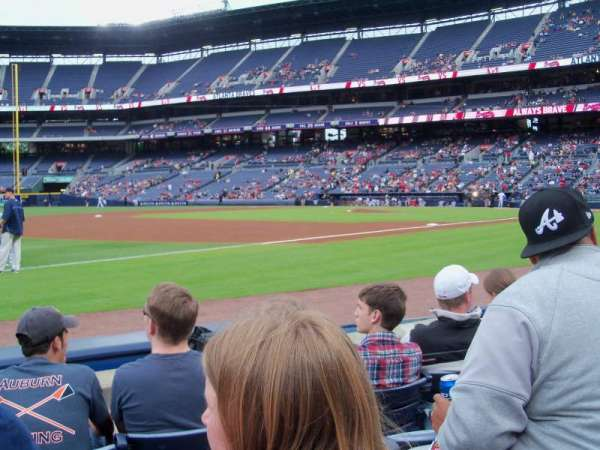 Turner Field, section: 120, row: 4