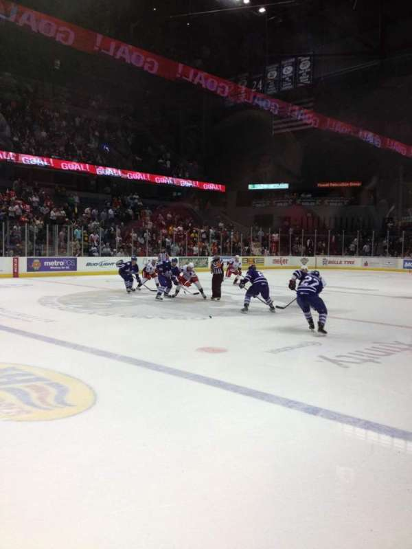 Van Andel Arena, section: 123, row: A, seat: 11