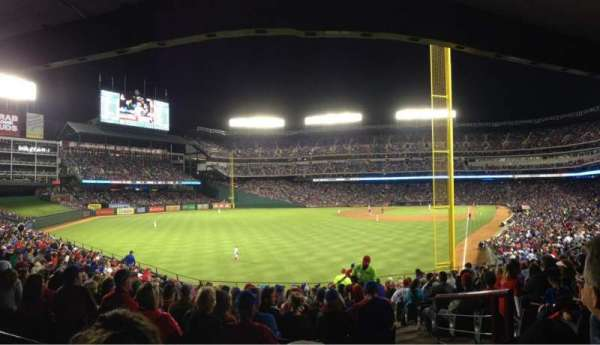 Globe Life Park in Arlington, section: 8, row: 18, seat: 3