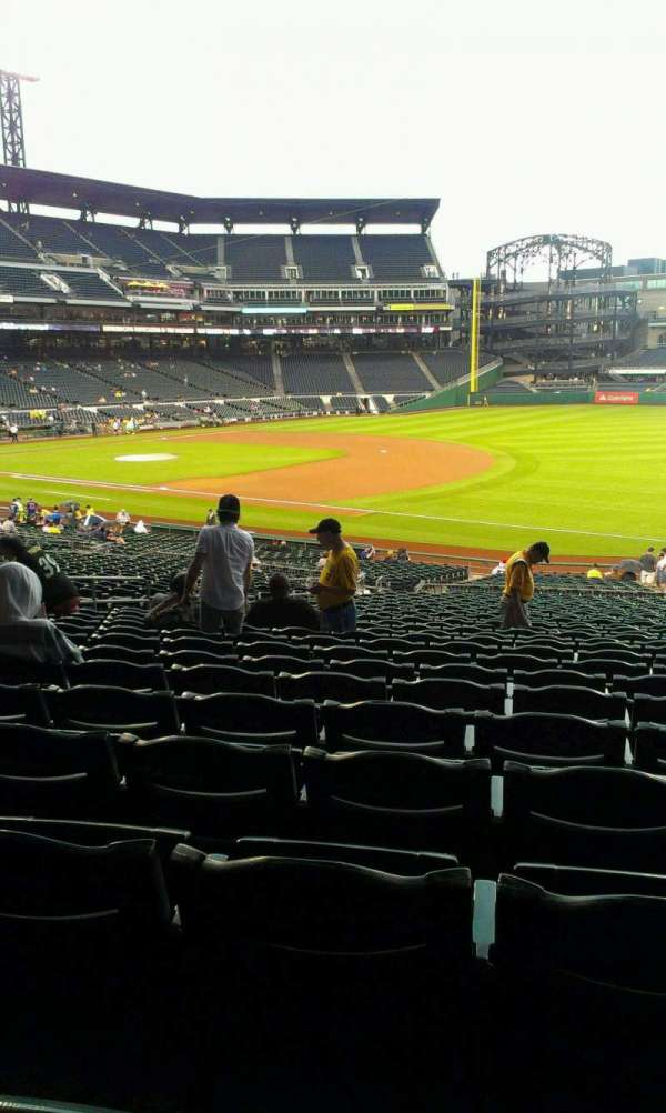 PNC Park, section: 105, row: DD, seat: 10