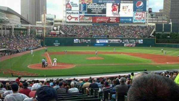 Progressive Field, section: 151, row: V, seat: 9