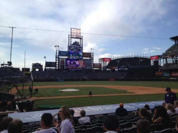 Coors Field, section: 125, row: 15, seat: 14