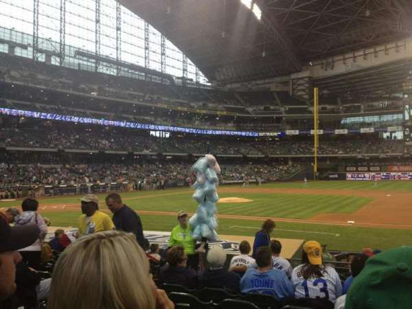 Miller Park, section: 112, row: 14, seat: 5