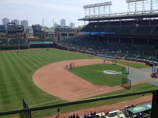 Wrigley Field, section: 308L, row: 1, seat: 3