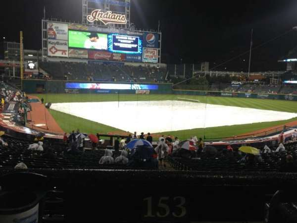 Progressive Field, section: 153, row: HH, seat: 1