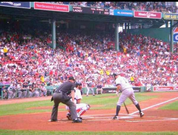 Fenway Park, section: 17, row: B, seat: 1