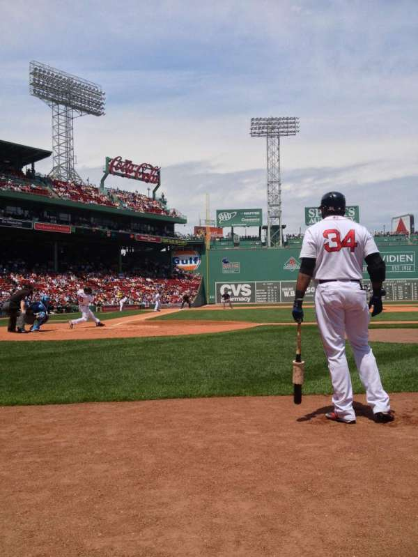 Fenway Park, section: Field Box 35, row: 1