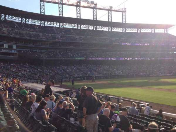 Coors Field, section: 120, row: 10, seat: 9