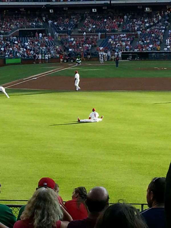 Citizens Bank Park, section: 105, row: 12, seat: 1