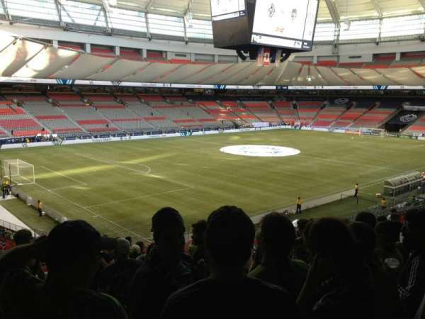 BC Place, section: 221, row: RR, seat: 9