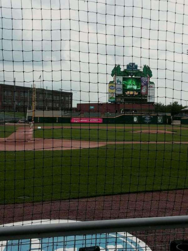Fifth Third Field (Dayton), section: 108, row: 2, seat: 6