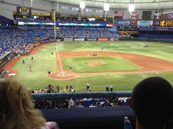 Tropicana Field, section: 208, row: B, seat: 2