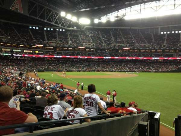 Chase Field, section: 108, row: 25, seat: 11