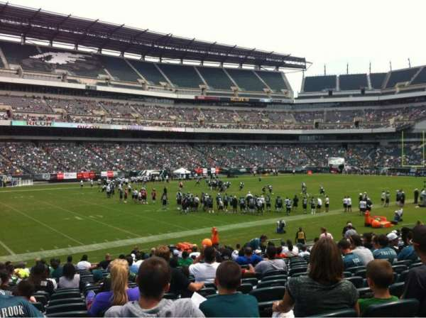 Lincoln Financial Field, section: 135, row: 21, seat: 18