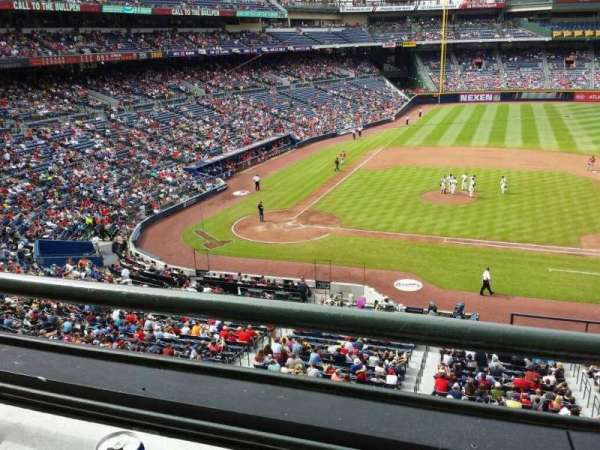 Turner Field, section: 206, row: 1, seat: 7