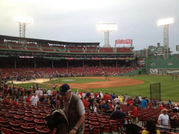 Fenway Park, section: Loge Box 98, row: MM, seat: 5
