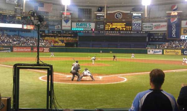 Tropicana Field, section: 102, row: M, seat: 1