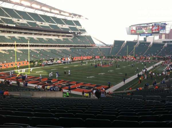 Paul Brown Stadium, section: 120, row: 35, seat: 10