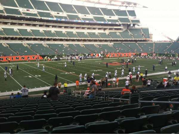 Paul Brown Stadium, section: 116, row: 21, seat: 5