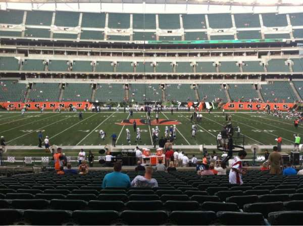 Paul Brown Stadium, section: 110, row: 20, seat: 16