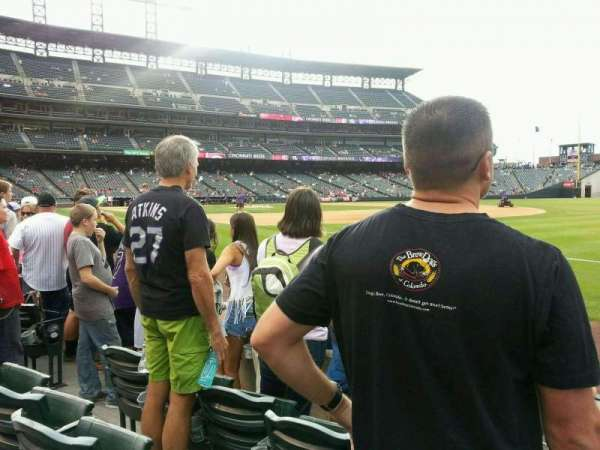 Coors Field, section: 117, row: 3, seat: 14